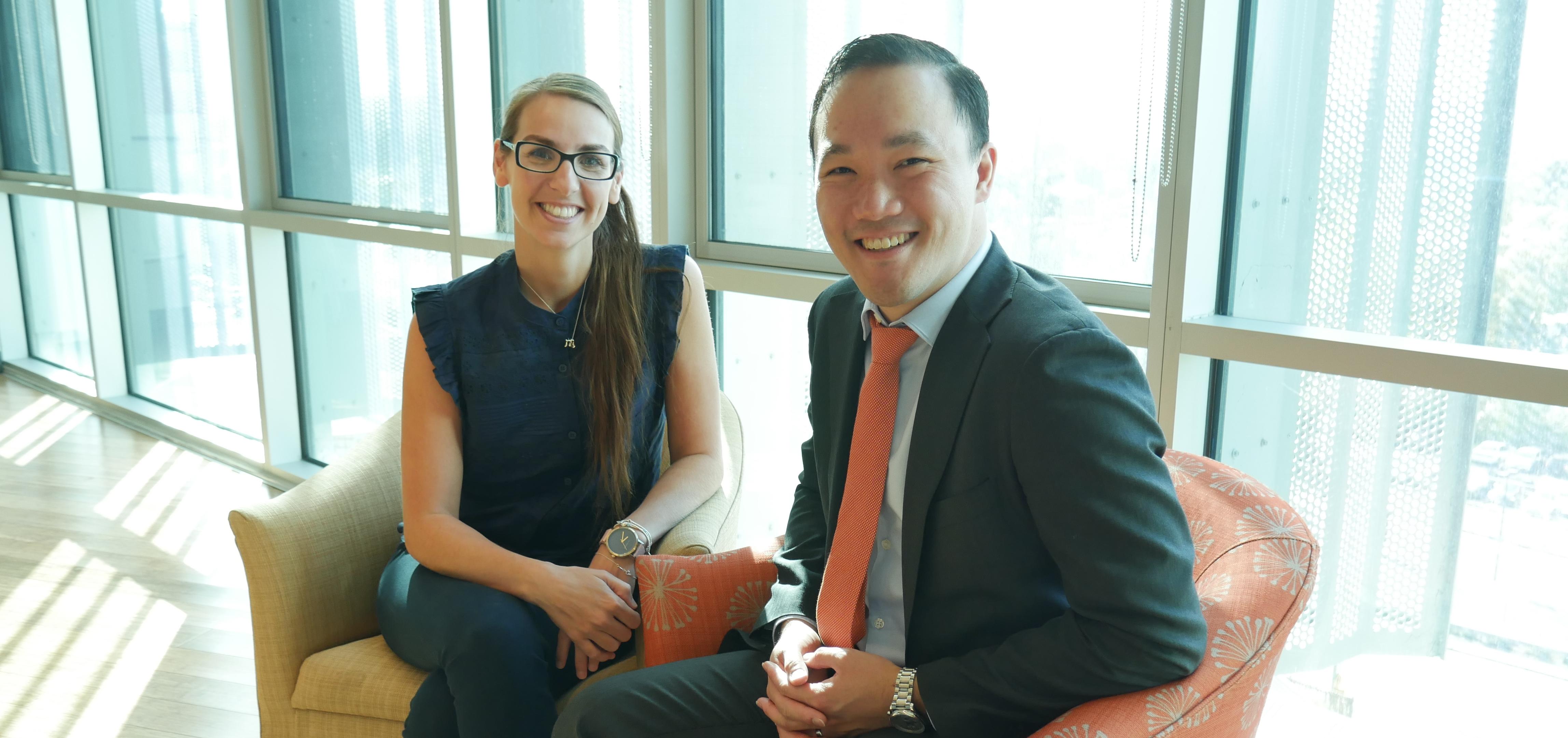 Chun Fong and Vanessa Donati