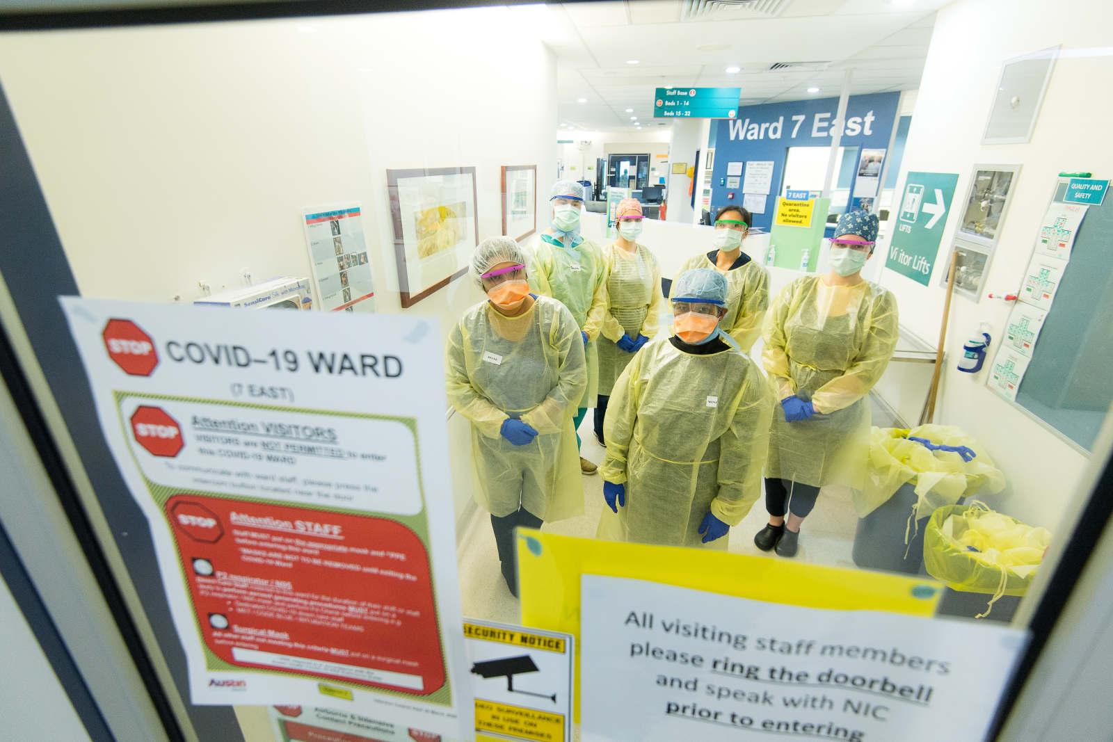 Staff on the COVID-19 Ward CREDIT:JUSTIN MCMANUS