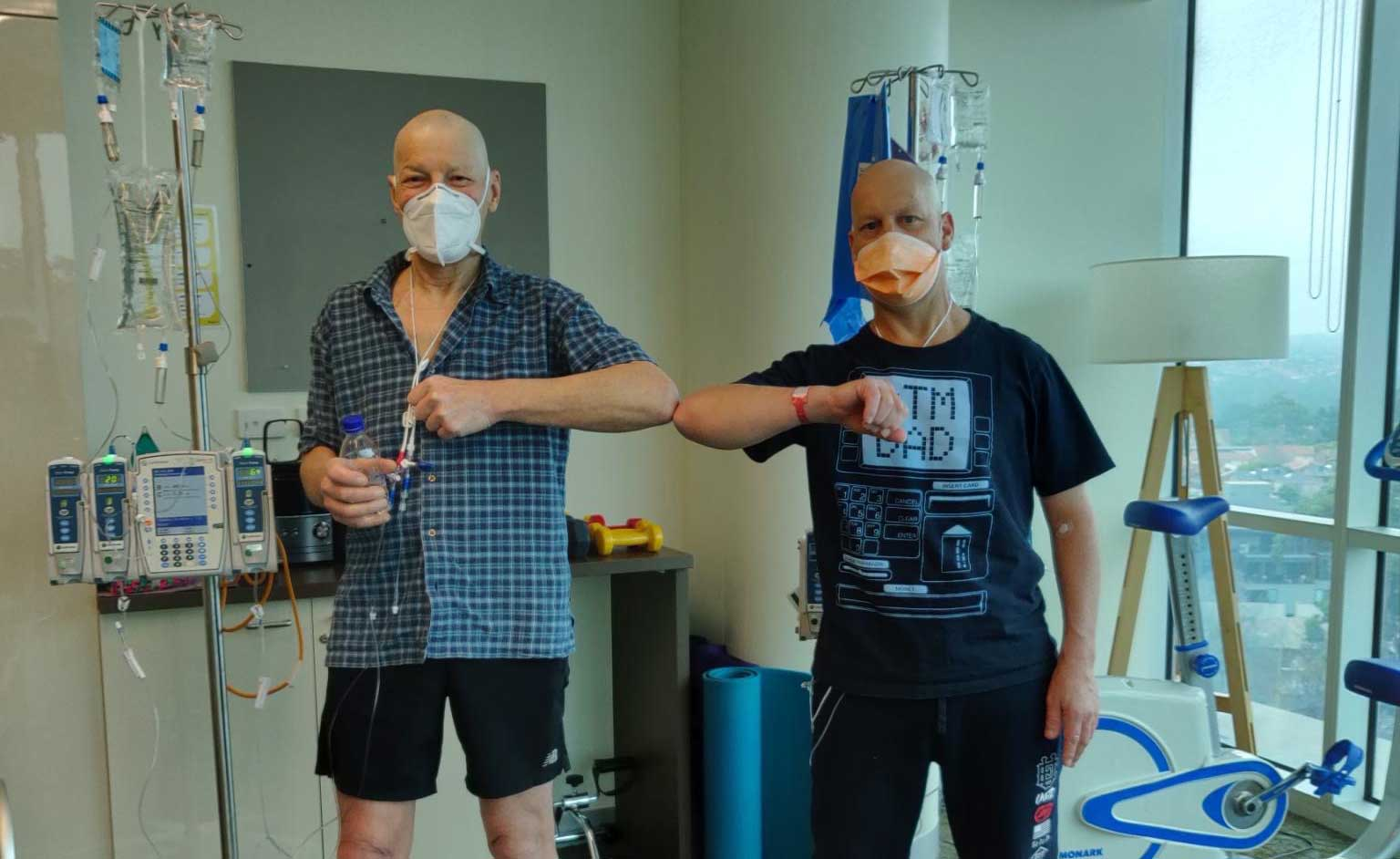 Greg and Alan in hospital