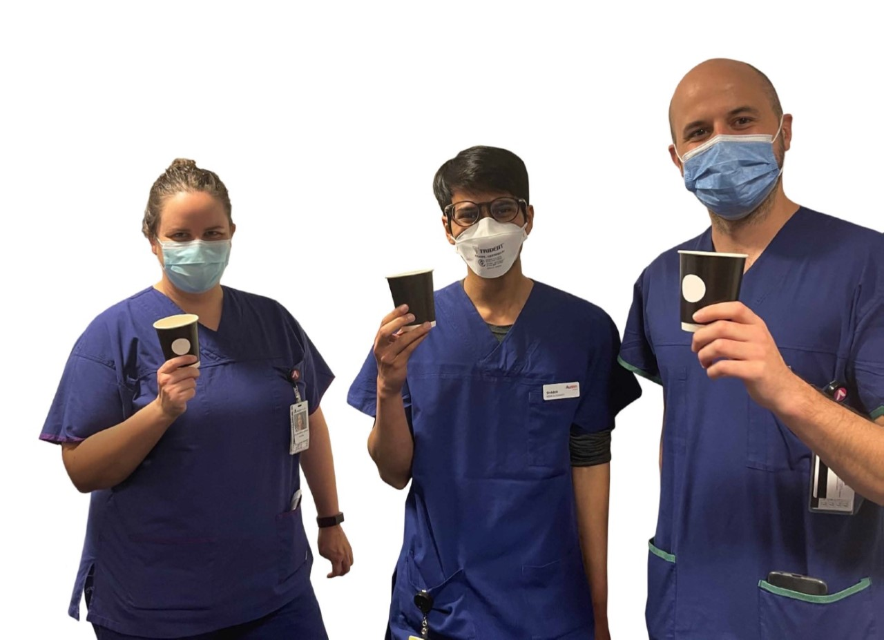 Donate a coffee to healthcare workers