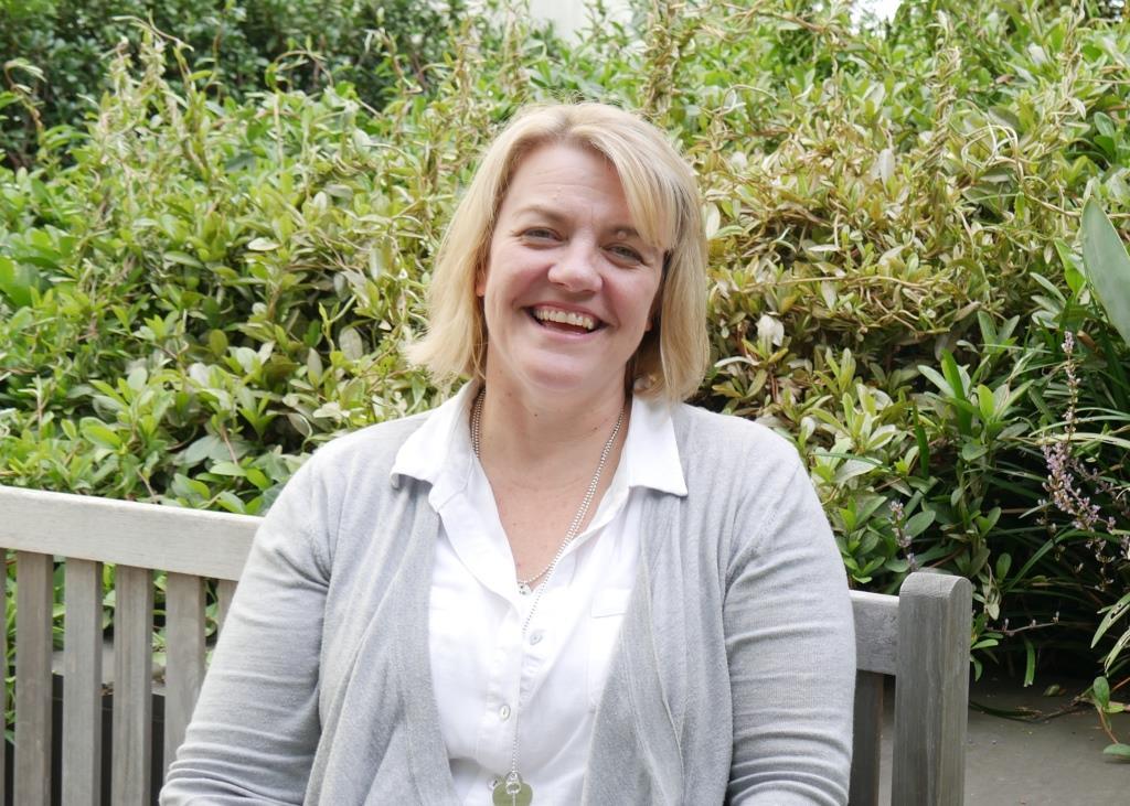 Lymphoma Nurse Tania Cushion cropped lo res